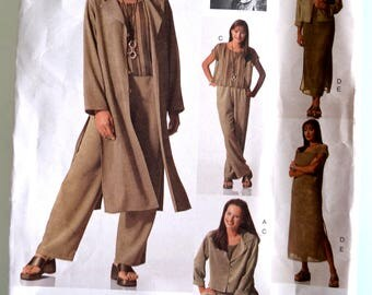 Vogue Attitudes 2148 Misses Jacket, Duster, Dress, Top, Slip and Pants Size 18-22 UNCUT