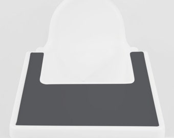 Charcoal Grey // IKEA Antilop Highchair Silicone Placemat // High Chair Place Mat
