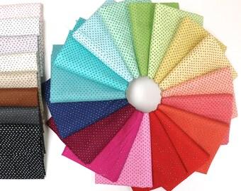Pixie Dots - Fat Quarter Bundle - Ink and Arrow Fabrics Basic - 25 prints