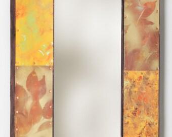 23 x 16 Painted Metal Border Mirror