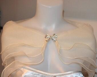 Champagne Bridal shrug, bridal wrap, Champagne wedding shrug, bridal cover up, wedding bolero, bridal shawl, wedding cape, wedding jacket