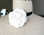 NEW Camellia necklace  or Brooch /made of Chanel gift edition camellia/