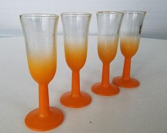 Vintage Blendo Cordial  Glasses Set of 4