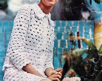Crochet Pattern 1960s Mod Twiggy Crochet Suit - NO VAT EU Buyers
