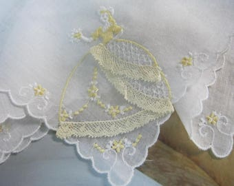 Vintage Ladies Handkerchief - Southern Belle