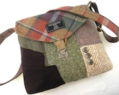 Crossbody bag, Crossbody Purse,Gift for Her, Recycled Crossbody Purse, Recycled wool, iPhone pocket,Recycled mens suit coat