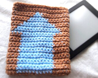 Kindle cover - e-reader cover- Blue Arrow Avatar cover - ready to ship e-reader case