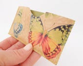 Leather Business Card Holder, Leather Card Case, Butterfly Print, Print Leather Card Case, One of a Kind