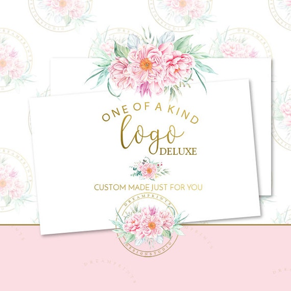 Custom-One Of A Kind Deluxe Logo Set   Business Branding   Business Package   Etsy Shop   Small Business   Etsy Graphics   Etsy Designs