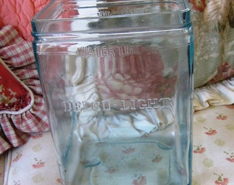 Rare Delco-Light Battery Jar  Aqua color