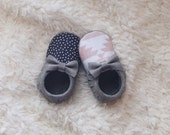 Moccs of the Week New Perfectly Paired Mismatched Moccs Suede Leather + Tribal Handmade Baby Moccasins