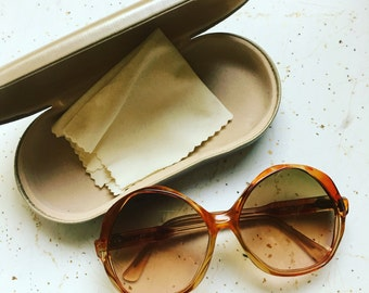 DVF Vintage Super Large Oval Sunglasses • Rare Vintage Diane Von Furstenberg Glasses • Fashion Designer 60s Sunglasses