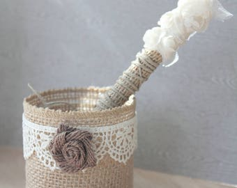 rustic pen holder with marker for drop box wedding guestbook Pen marker for drop hearts guestbook rustic wedding decor rustic decorated