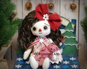 ON SALE Raggedy Joy Annie- cute ooak primitive folk art home decor collectable  Holiday Christmas
