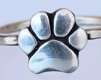 Paw Ring - Dog Paw - Dog Paw Jewelry - Paw Jewelry - Dog Jewelry - Animal Jewelry - Dog Lovers Jewelry