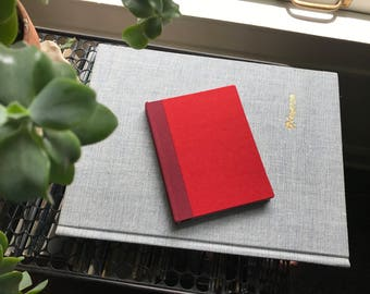 Colorblock // Small Hardcover Book // Red & Gray
