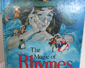 Vintage Children's Book The Magic of Rhymes Beautiful Illustrations 1976 Brimax Books