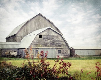 Barn Print, Rustic Farmhouse Decor, Barn Art, Country Photo, Country Print, Old Barn Picture, Fixer Upper Decor, Rustic Cabin Decor