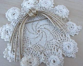 Vintage Modern Sterling Napier Brooch. Knotted Branch Brooch, Designer Sterling Large Vintage Jewelry Brooch Pin