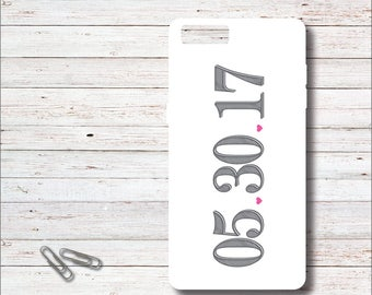 Engagement Phone Case, Phone Case, Engagement Gift, Bride To Be, Wedding Date, Gift for Bride, Bridal Shower Gift