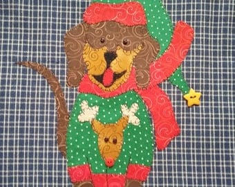 Santa's Sack Applique  PDF Pattern for Tea Towel