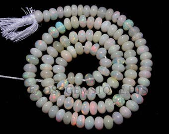 Ethiopian Opal Smooth Roundel (Quality AA) / 4.5 to 5.5 mm / 36 cm / ET-070