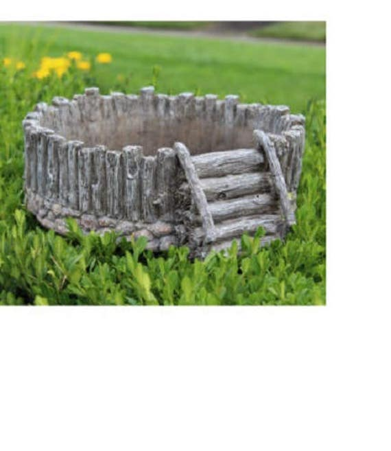 "Split Log Planter (12.5"" Diameter)"