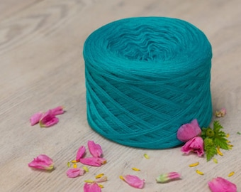 Turquoise Merino Wool yarn in various knitting weights,high quality yarn for knitting and crochet for babies and adults,very soft.