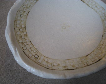 Artifact Inspired Ceramic Bowl - Art Bowl - Yaya Mama Stele Details - Archaeology