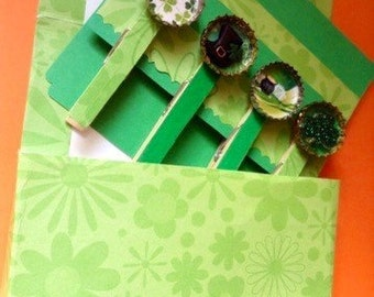 St Patty's Day gift/card 4 piece set  of cap-clips