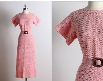30% SALE Vintage 30s Dress | 1930s vintage crochet set | vintage skirt & top S/M | 5686