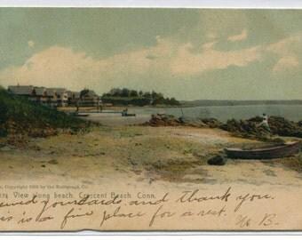 Shoreline Crescent Beach Connecticut 1907 postcard
