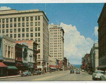 Market Street Chattanooga Tennessee 1950s postcard