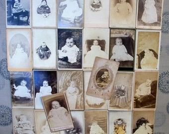 26 CDV Carte des Visite Cards - Babies, Babies, & More Babies!