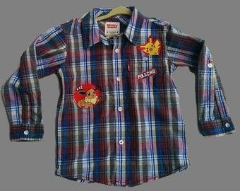 Recycled Pokemon Shirt, Boy Size 5T/6