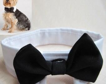 Dog/Cat Bow Tie Collar Wedding Custom Tuxedo Fancy Necktie Costume