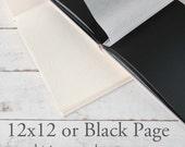 BOOK UPGRADE - 12x12 or Black Page Album - ClaireMagnolia Custom Books