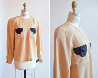 Vintage 1980s VALENTINO silk blouse