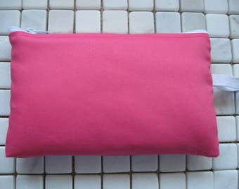 bright pink twill large padded bag