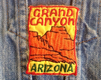 Vintage 60's Grand Canyon Patch / Arizona Souvenir Embroidered Sew On Patch