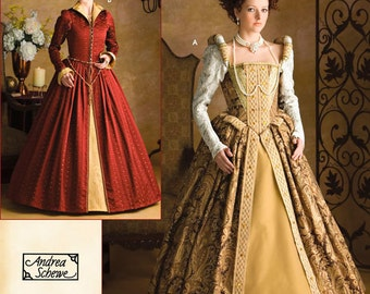 Pick Your Size - Simplicity Costume Pattern 3782 by ANDREA SCHEWE - Misses' Elizabethan Costume Dresses - Historical Costumes