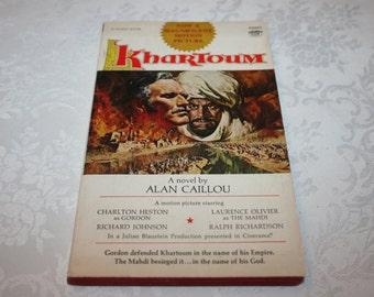 "Vintage Paperback Book "" Khartoum "" By Alan Caillou Movie Film Motion Picture 1966 Charleton Heston Laurence Olivier"