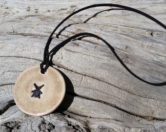 Beetle Ceramic Necklace