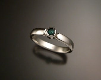 Emerald ring handmade in your size natural Emerald ring