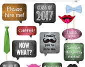DIY Photo Booth - Chalkboard Signs and Props - 2017 GRADUATION