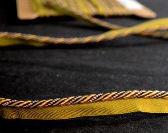 ES310 203 Green Gold Lip Cord Fabric Trim