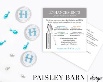 Hydration Serum Sample Kit | mini facial, new product, Rodan+Fields, travel, containers, stickers, business card, mini facial, sample, skin