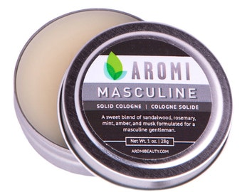 Masculine Solid Cologne.  Men's gift. Manly Cologne. Musky Cologne.  Men's Cologne.  Men's Fragrance