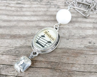 mother necklace | vintage sheet music | vintage and repurposed necklace | gift for her | gift for mom