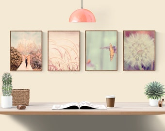 Ordinaire Nature Photos, Boho Wall Decor, Set Of 4 Prints, Nature Photography Prints,